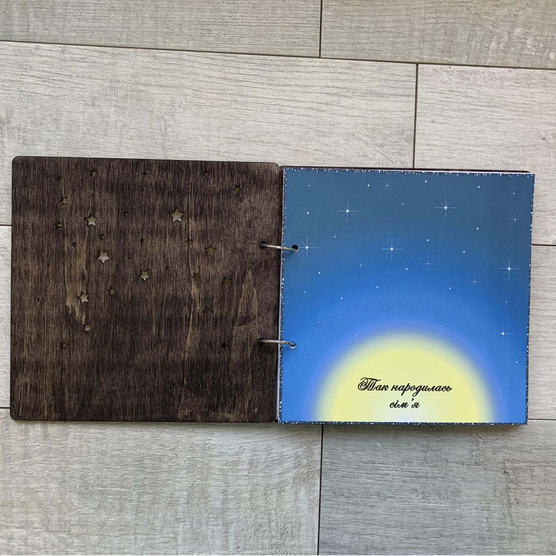 Свадебный альбом ''Wedding Book'' в деревянной обложке на кольцах