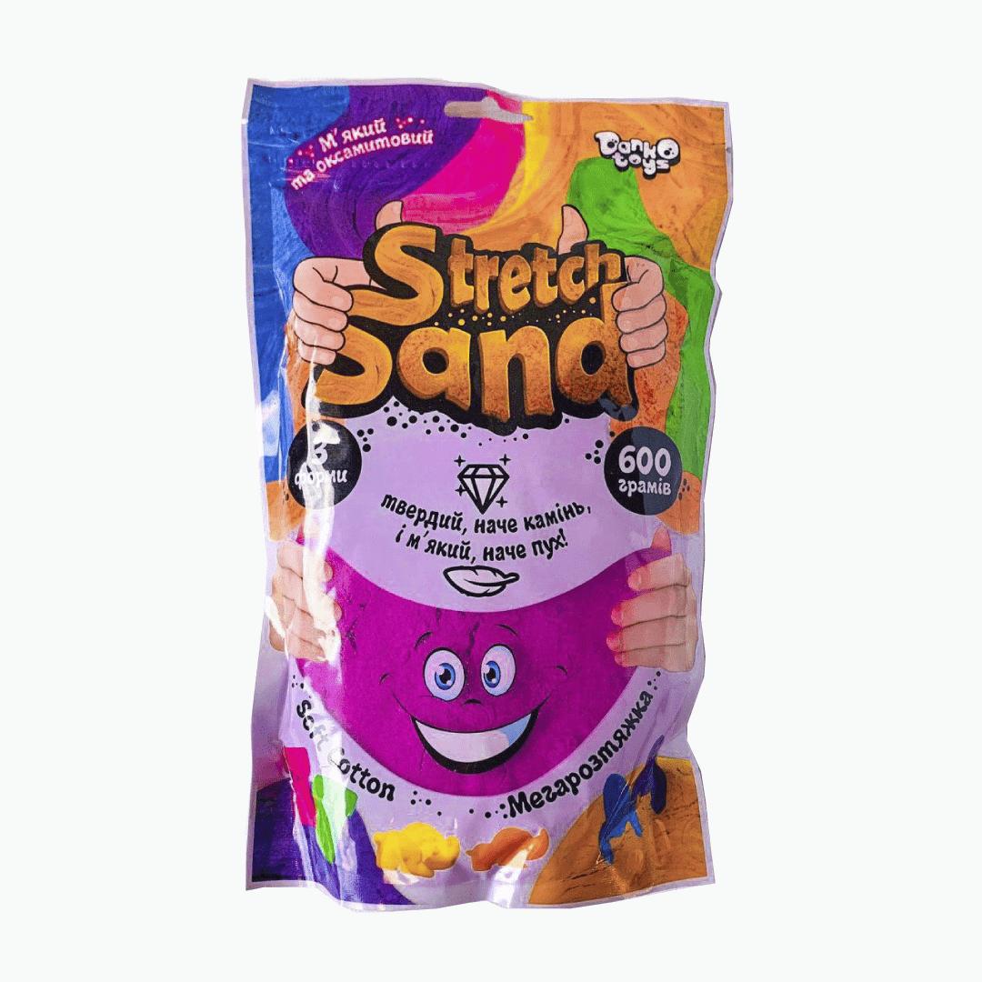 """Кинетический тягучий песок """"Stretch Sand"""", пакет 600 г."""